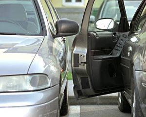 Parked Vehicle Door Damage Example