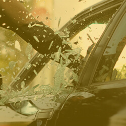 Vehicle Window Being Smashed