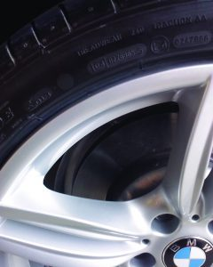 Damaged Car Alloy After Cosmetic Repair