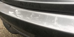 Damaged Car Boot Ledge After Protection Treatment