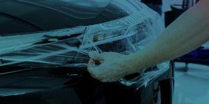 Car Bumper Vinyl Wrap Peeled By Technician