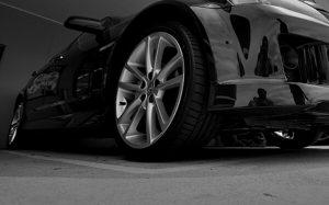 Black Car Alloy Wheels Up Close