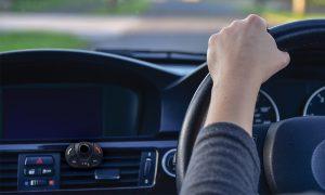 Car Interior With Steering Wheel