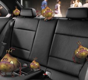 Car Interior Before Germinator Treatment